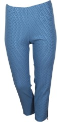 CISO - 7/8 stretch pants with rubber band in the waist in nice strechy structural tissue fabric