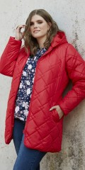 Zhenzi - Quilt jacket with cap and 2 sloping pockets