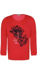 Zhenzi - Long-sleeve t-shirt with print and mica