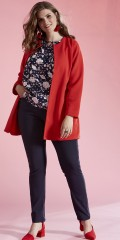 Zhenzi - Open cardigan with long sleeves in crenelated pattern