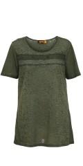Aprico - Smart transparant t-shirt med kort ærme