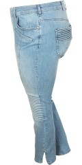 Zizzi - Smart strechy jeans model sanna, with slits in the legs and smart effect at the knees