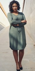 Adia Fashion - Nice knitted dress with v cutting