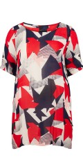 Adia Fashion - Tunica with round neck and 2/4 sleeves in super nice abstract pattern