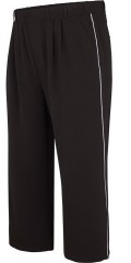 Adia Fashion - Culotte pants with rubber band in whole the waist and white piping in the sides