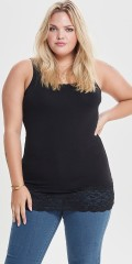 ONLY Carmakoma - Cartime tank top with lace edge