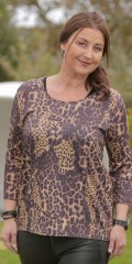 container+ - T-shirt with animal print and 3/4-sleeves