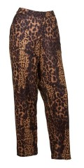 container+ - Pants loose fit with rubber band in whole the waist in smart strechy animal print