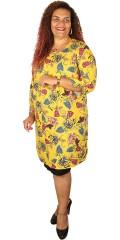 Juna Rose - Jossi dress with 3/4 sleeves in super nice print, also slit in the neck and the sleeves