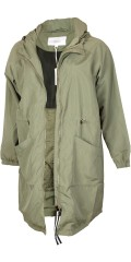Zizzi - Stylish zipped-through long parka with double zipper