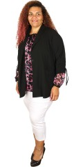 Zhenzi - Smart light blazer jacket with 3/4 sleeves, 2 pockets and is closed with a button
