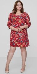 JUNAROSE - Dress in hard fabric with 3/4 sleeves