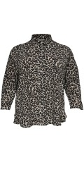 ONLY Carmakoma - Smart gjennomknappet skjorte med dyre trykk og draperbar ermer