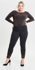 ONLY Carmakoma - Stretch jeans with smart lace in the legs and 3 pockets