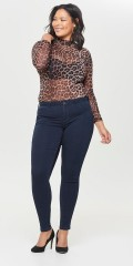 Strechy push up regular skinny jeans