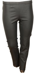 Zhenzi - Coated twill legging with lace at the bottom and super stretch and rubber band in whole the waist