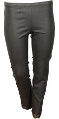 Zhenzi - Beschichtet Twill legging mit Spitze unten und super Stretch und Elastik in ganze die Taille