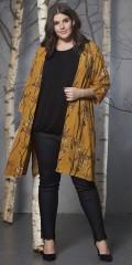 Zhenzi - Twist bukser, coated twill legging fit med super strekk og strikk i hele taljen