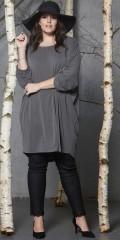 Zhenzi - Coated twill legging med blonde forneden og super strech og elastik i hele taljen