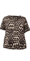 Cassiopeia - Wana top blouse in hard fabric with short sleeves and v cutting