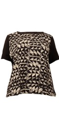 Cassiopeia - Wana t-shirt blouse in hard fabric with short sleeves