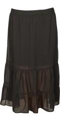 Cassiopeia - Laya lang flæse nederdel med elastik i hele taljen og fastsyet kort viskose skørt