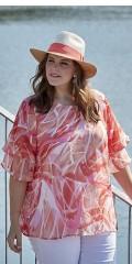Zhenzi - Sweet chiffon blouse with layer on layer sleeves