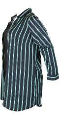 Zhenzi - Langærmet stribet skjorte med mulighed for slidser i siderne
