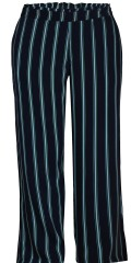 Zhenzi - Pants loose fit in smart striped hard fabric with wide rubber band in rear piece of the band