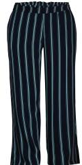 Zhenzi - Pants loose fit i smart stribet fast stof med bred elastik i bageste del af linningen