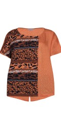 Zhenzi - T-shirt with short sleeves in nice pattern