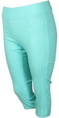 Twist stump pants in power stretch with wide rubber band in whole the waist