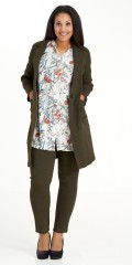 Studio Clothing - Tunika durchgeknöpft Hemdbluse mit 3/4 Ärmeln