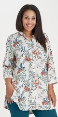 Studio Clothing - Tunica all-buttoned shirt blouse with 3/4 sleeves