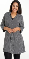 Studio Clothing - Shirt tunica all-buttoned with 3/4 sleeves in stripes
