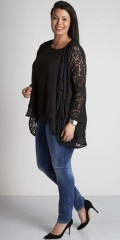 Zoey - Lace open cardigan with long sleeves