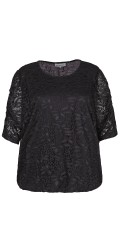 Zhenzi - Lace blouse with 2/4 sleeves and hard sewn lining