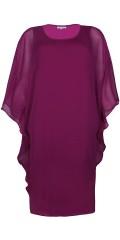 Zhenzi - Fin kjole med oversize chiffon topp