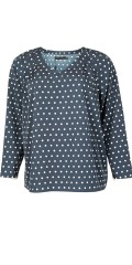 Cassiopeia - Salto blouse with dots and v cutting, sewn in hard fabric
