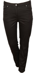 Zhenzi - Curve pants, twill with stretch and adjustable rubber band in the waist