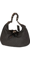 Vanting  - Roomy bag in suede look with shiny rivets and many pockets