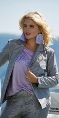 Zoey - Mason blazer in nice silver coloured bling bling with pad at shoulders and pockets