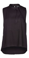 Zoey - Natalie viskose top with smart neck tie and loop in the neck