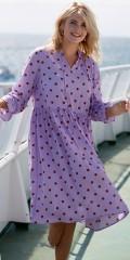 Zoey - Dottie dress kjole i skøn crepe med lange ærmer og snøre i halsen