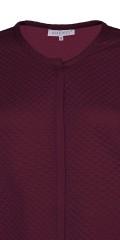 Zhenzi - Open checkered cardigan with long sleeves