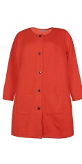 Zhenzi - Nice cardigan with structure shiny buttons and pockets