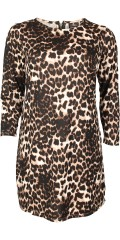 AnyWay - Smart soft dress with long sleeves in nice animal print