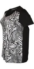 Handberg - T-shirt med korta ärmar i a-formad och vacker dyra tryck i forsidan