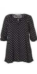 Studio Clothing - Dot blouse in hard fabric with 3/4 sleeves