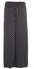 Studio Clothing - Dot lange bukser in hard fabric with smock in the waist and width in the legs